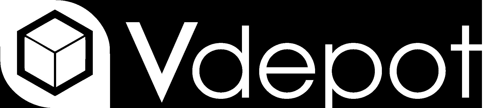 Vdepot Logo White